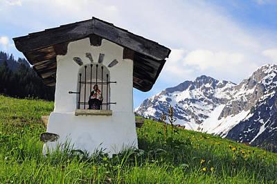 Vorarlberg Photograph - Wayside Shrine In The Mountains by Matthias Hauser