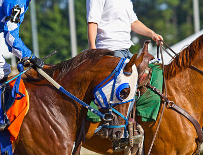 Jockey Photograph - We Are Going To Win by Betsy C Knapp