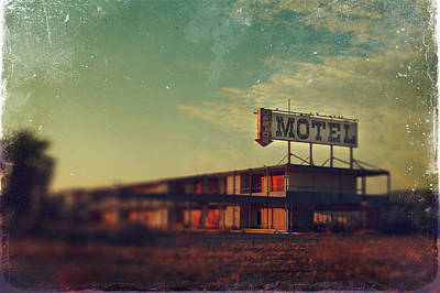 Motel Digital Art - We Met At The Old Motel by Laurie Search