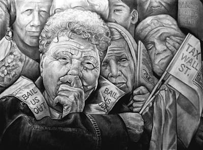 Occupy Drawing - We The People by Curtis James