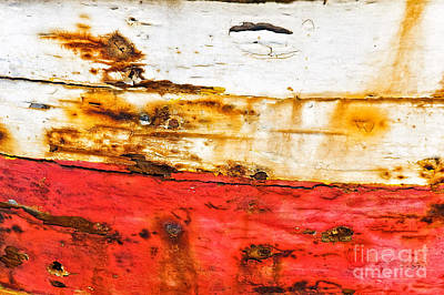 Weathered With Red Stripe Print by Silvia Ganora