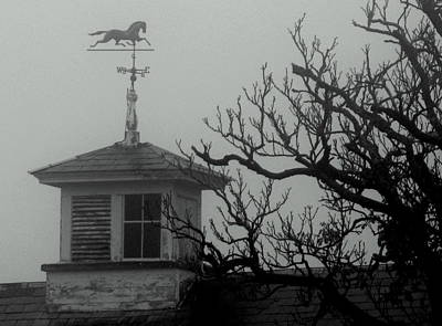 Weathervane On The Barn Print by Lois Lepisto