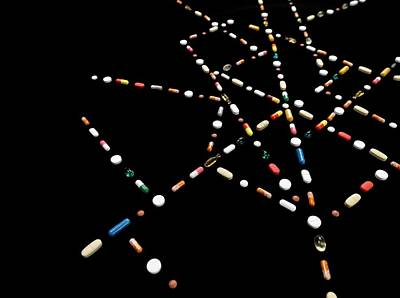 Web Of Life Photograph - Web Of Pills by Tek Image