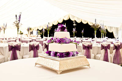 Dining Hall Photograph - Wedding Cake by Tom Gowanlock