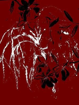 Love Digital Art - Weeping Maroon by Mark Moore