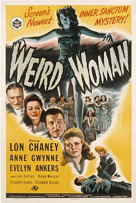 Weird Woman, Anne Gwynne Top, Lon Print by Everett