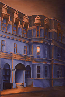 Quebec Painting - Welcome Home - A Light In The Window by Duane Gordon