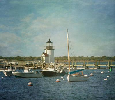 Welcome To Nantucket Print by Kim Hojnacki