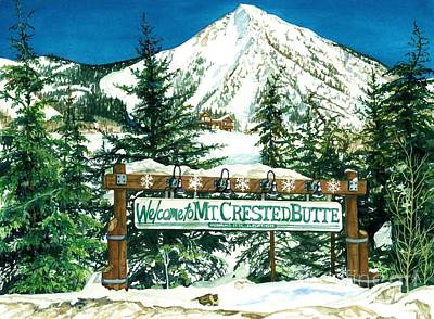 Welcome To The Mountain Print by Barbara Jewell