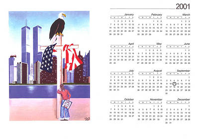 2001. World Trade Center Painting - We'll Never Forget by Troy Guillory