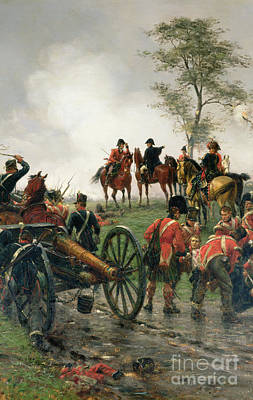 Wellington At Waterloo Print by Ernest Crofts