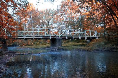 Cricket Digital Art - West Valley Green Road Bridge Along The Wissahickon Creek by Bill Cannon