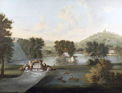 Ground Painting - West Wycombe Park  by William Hannan