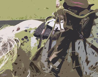 Horse Show Digital Art - Western Ways by Betsy Knapp