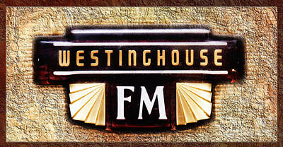 Westinghouse Fm Logo Print by Andee Design