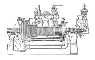 Technical Photograph - Westinghouse-parsons Steam Turbine by Mark Sykes