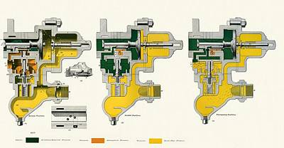 Westinghouse Quick-action Triple Valve Print by Sheila Terry