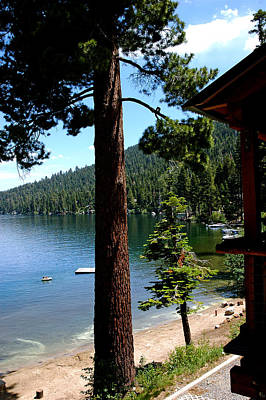 Leaves Photograph - What A View Fallen Leaf Lake Tahoe by LeeAnn McLaneGoetz McLaneGoetzStudioLLCcom
