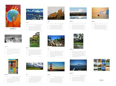 What A Wonderful World Calendar 2012 Print by Juergen Weiss