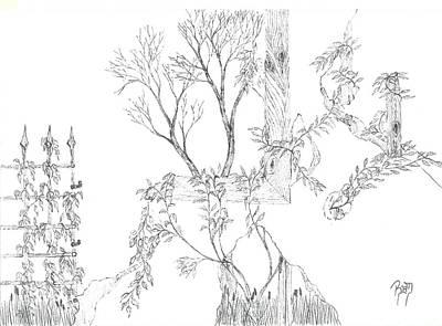 What Remains - Sketch Print by Robert Meszaros