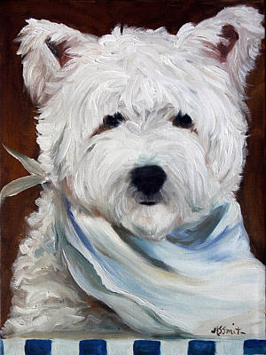 Dog Painting - What's For Supper by Mary Sparrow