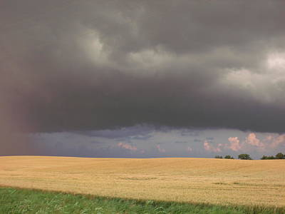 Wheat Field Storm Print by Brian  Maloney