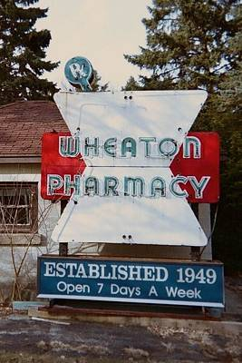 Wheaton Pharmacy Print by Todd Sherlock