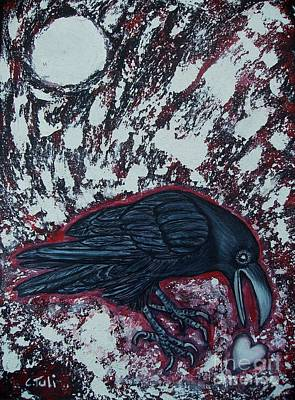 When The Raven Returned The Light Print by Claudia Tuli