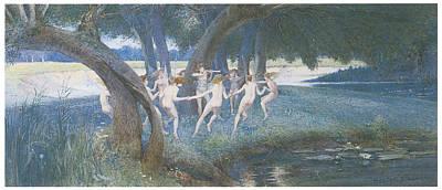 Fantasy Tree Art Painting - Where Rural Fays And Fairies Dwell by Walter Jenks Morgan