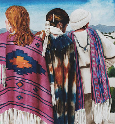 Woman Painting - Which Way To Santa Fe by Eve Riser Roberts