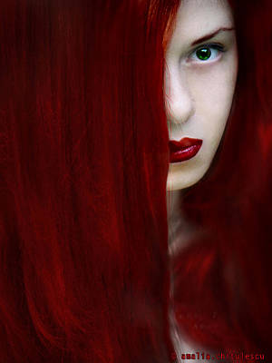 While Her Lips Are Still Red Print by Amalia Iuliana Chitulescu