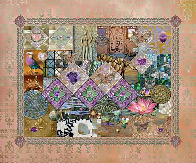 Dancer Relief Digital Art - Whimsical Meditation Peach by Susan Ragsdale