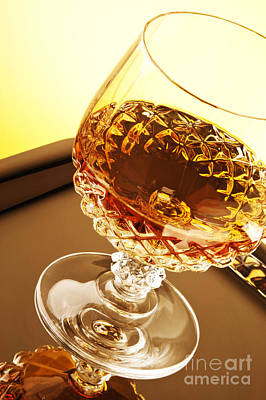 Whiskey In Glass Print by Blink Images