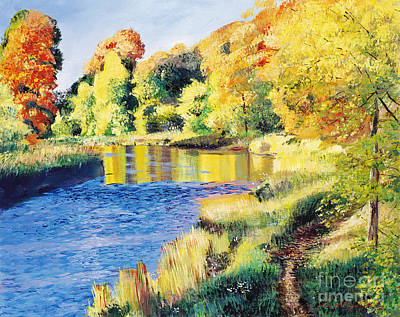 Whispering River Print by David Lloyd Glover