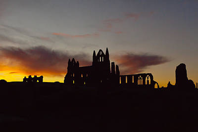 Whitby Abbey At Sunrise Print by Gary Finnigan