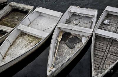 White Boats Print by Timothy Johnson