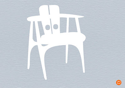 White Chair Print by Naxart Studio