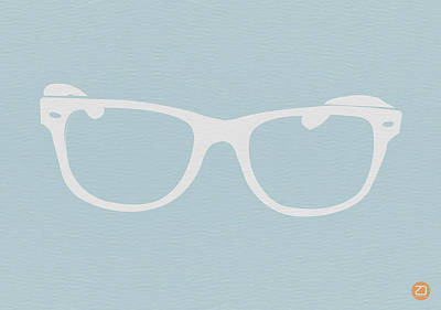 White Glasses Print by Naxart Studio