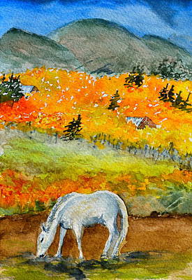 White Horse Original by Beverley Harper Tinsley