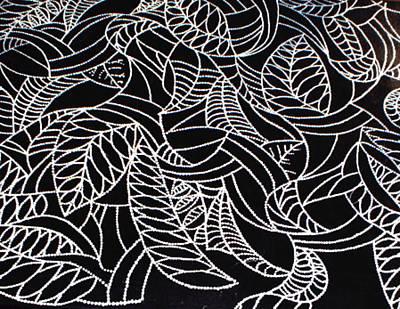 Fruit Tree Art Painting - White Leaves by Paula Bramlett