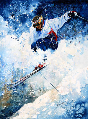 Canadian Sports Painting - White Magic by Hanne Lore Koehler