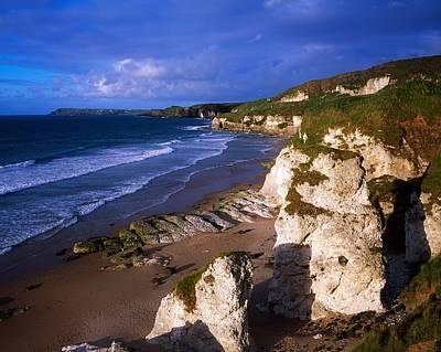 Portrush Photograph - White Rocks, Between Portrush & by The Irish Image Collection