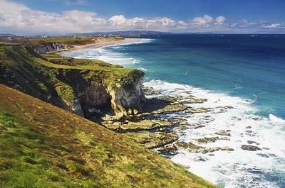 Portrush Photograph - White Rocks, Portrush, Co Antrim by The Irish Image Collection
