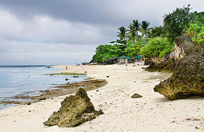 White Sand Beach Moal Boel Philippines Print by James BO  Insogna