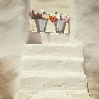 Stairs Photograph - White Steps by Joana Kruse