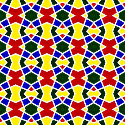 Jamaican Digital Art - White Stripes 1 Symmetry by Hakon Soreide