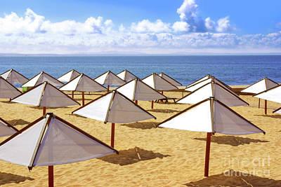 White Sunshades Print by Carlos Caetano