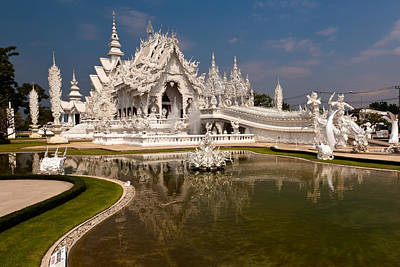 White Temple Print by Adrian Evans