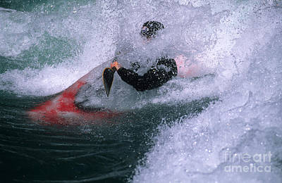 White Water Kayaker Print by Bob Christopher