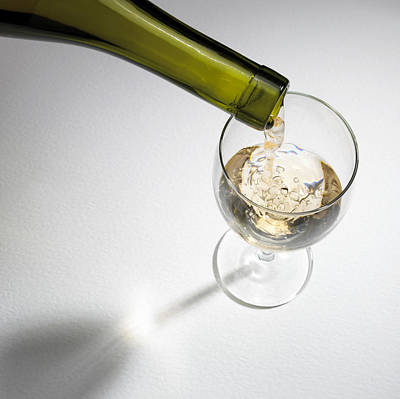 White Wine Print by Mark Sykes